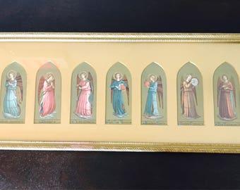 1907 framed prayer cards