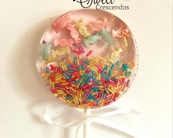 Candy Confetti-Hard Candy Lollipop- Party Favors- Baby Shower Favors- Wedding Favors- Bridal Shower Favors