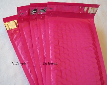 10 Hot Pink Bubble Mailers, Padded Envelopes, Shipping Envelopes, Padded Mailers, Pink Bubble Mailer, Bubble Envelopes, Shipping Supply 4x8