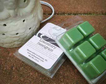 Lowcountry Sweetgrass Scent - Soy Wax Melts - Soy Wax Tarts - Scented Wax Melts - Candle Melts - Scented Wax Cubes - Sweetgrass