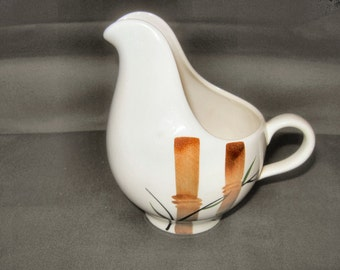 Vintage Stetson Pottery Bamboo design creamer pitcher 1950s