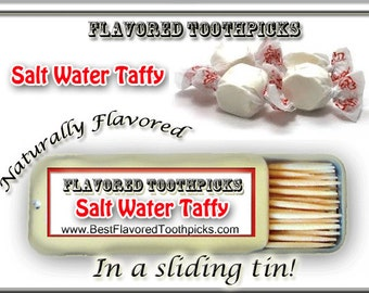 Salt Water Taffy Flavored Toothpicks - 70+ Flavors! Salt Water Taffy Flavors, Iowa State Fair, Made In Iowa, Candy, Flavors, Flavored, Gifts