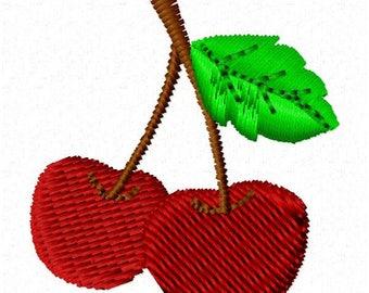 Cherries Machine Embroidery Design - Instant Download