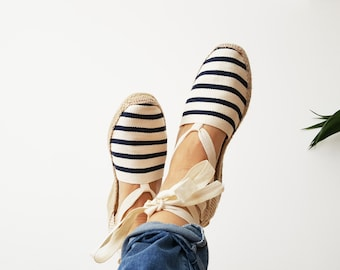 STRIPED  COTTON ESPADRILLES