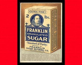 Vintage Sugar Print - Retro Kitchen Decor Kitchen Kitchen Poster Vintage Decor Vintage Food Poster Kitchen Print  t