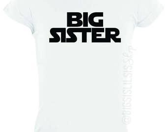Star Wars Big Sister White Shirt/Big Sister Shirts/Toddler Girl/Toddler Shirts/Gift Ideas/Pregnancy Announcement/Star Wars