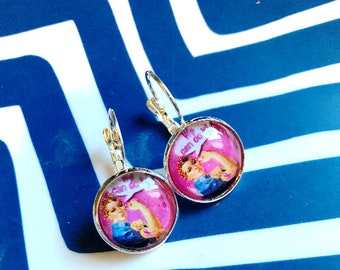 Rosie the Riveter We Can Do It cabochon earrings- 16mm
