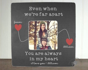 Personalized Girlfriend Picture Frame Long Distance Relationship Gift Ideas Long Distnce Boyfriend Gift Even When We're Far Apart IB2BFS
