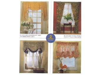 Uncut McCall's 2788, sewing pattern, valence and curtains pattern, handkerchief pattern, triangle panel, tassel topper