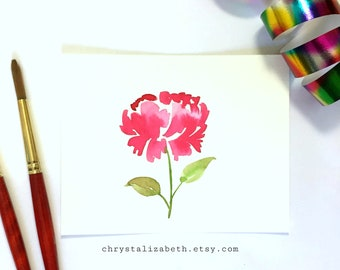 Simple Pink Watercolor Flower