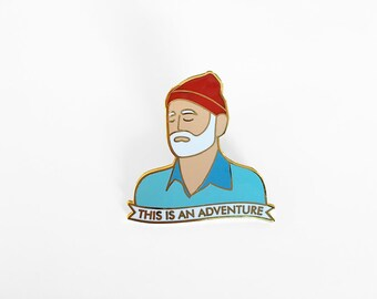Zissou This is an Adventure Enamel Pin - The Life Aquatic with Steve Zissou - Wes Anderson Pin - Illustrated Lapel Pin