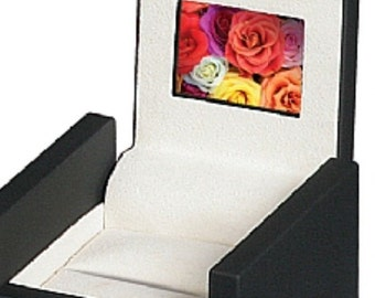 """HD LCD Video Engagement Wediing Anniversary Valentine Birthday Ring Box with 2"""" High-definition Screen"""
