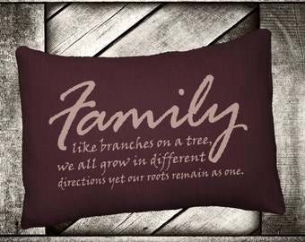 """Family Roots  12""""x16"""" Pillow Set"""