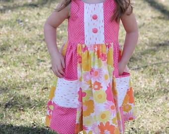 Girls Floral Dress, Toddler Floral Dress, Summer Dress, Girls Dress, Girls Spring Dress, Toddler Spring Dress, Floral Dress, Pink Dress