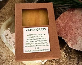 LEMONGRASS NATURAL HOMEMADE Soap, Handmade Soap, Soaps, Natural Soap Bar, Organic soap, Citrus soap, Herbal soap, Handcrafted soap