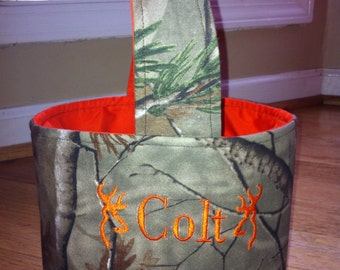 Camo Fabric Easter/Trick or Treat Basket