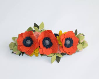 Fall Felt Floral Crown