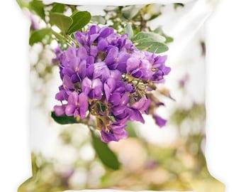 Violet Flowers | Square Pillow