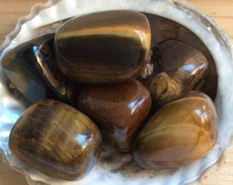Tiger Eye Tumbled Stones, Healing Stones, Chakra Stones, Spiritual Stone, Healing Crystals