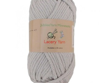 Lacery Yarn 100g - 2 Skeins - All Cotton - Vapor Grey - Color 509