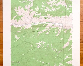 Antique Rustic, Colorado 1962 US Geological Survey Topographic Map – Roosevelt National Forest, Glen Echo, Pingree Hill, Wintersteen Park