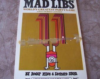 Vintage Mad Libs No.11 world's greatest party game.  T937-0.