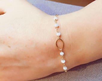 Gemstone wire wrapped bracelets