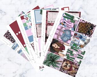 Palm Springs Sticker Kit (Glam Planner Stickers for Erin Condren Life Planner)