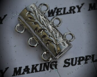 Silver Plated Magnetic Clasp