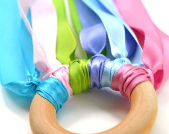 Waldorf Hand Kite Ribbon Streamer Waldorf Montessori Learning Toy