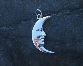 Sterling Silver Moon Pendant - #444