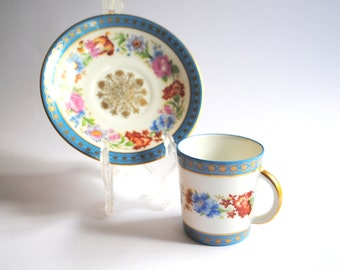 French Vintage Cup and Saucer Coffee Set from Couleuvre