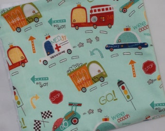 On Our Way Cars  Minky Security Blanket Lovey