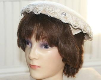 VIntage Felted Wool Ladies Hat