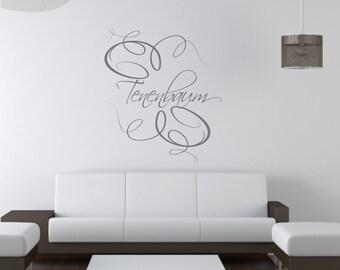Elegance Monogram  - Custom Vinyl Wall Decal w/ Your Name