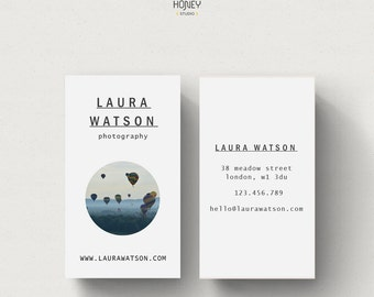 Photography calling card, premade business card, modern business card, name card, photography stationery, contact card, simple business card