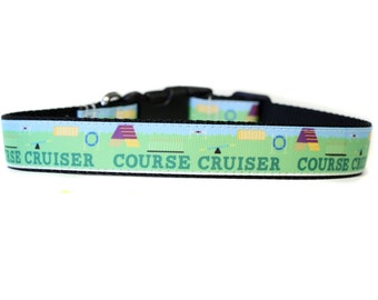 Agility Dog Sport 1 Inch Wide Dog Collar with Adjustable Buckle or Martingale in an Exclusive Design