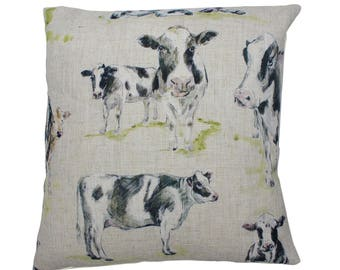 Cows Countryside Animal Print Cushion Cover