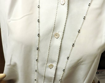 Light weight and Long  ... Small Bead, Beaded Glass Necklace .... Instead of wearing nothing at all ...  about 42 inches long