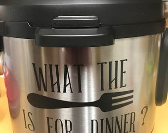 What The Fork Is For Dinner Vinyl Cut
