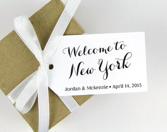 Welcome to (Destination) Tag - LARGE Size - Wedding Favor Tag - Custom Tag - 36 Pieces - 3.5 x 2 inches