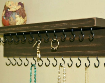 ON SALE Necklace Holder/ Jewelry Organizer/ Necklace Storage/ Shabby