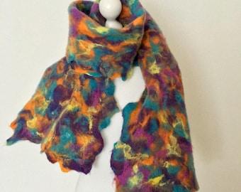 Softest Merino Wool Scarf   Wool Felted Scarf   Merino Wool Wrap  Wool  Felting