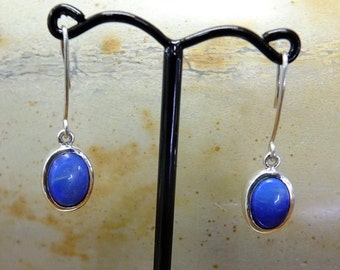 Opal Silver drop earrings