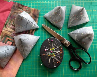 Sewing Pattern Weights, Set of 6  Pyramids, Sewing Weights, Paper Weights, Seamstress Gift, Sewing Room, Fabric weights, time saving tool