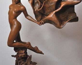 Titania, the Fairy Queen Statue, wood finish