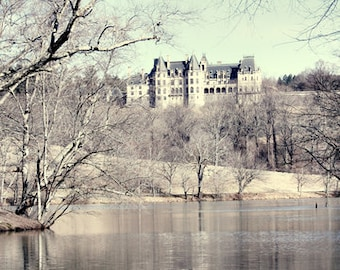 Biltmore Estate Photos, Asheville NC Photography, Biltmore Mansion, Pastel Green Home Decor, Dreamy Winter Photos Wall Art, Landscape Art
