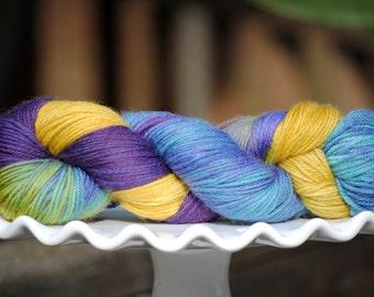 Lavender Fields - Hand Painted Merino Yarn - Superwash - DK - Light Worsted