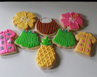 Hawaiian Luau Cookies
