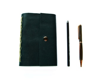 """Leather Journal or Sketchbook in Teal Leather 4""""x6"""""""